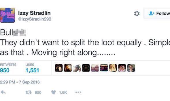 Tweet, já apagado, de Izzy Stradlin falando sobre a reunião da banda