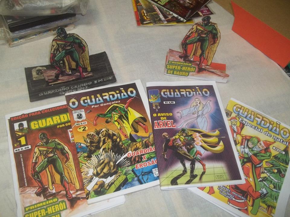 Fanzines do Guardião, primeiro super- herói de Bauru