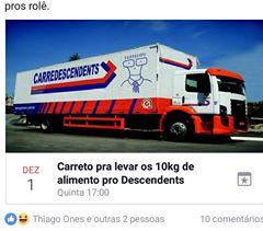 Brasileiro não perdoa: evento criado no facebook por fãs que questionavam como iriam levar os 10kg de alimento para a tarde de autógrafos da banda.