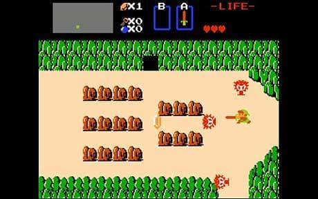 O primeiro jogo, The Legend of Zelda (1986)