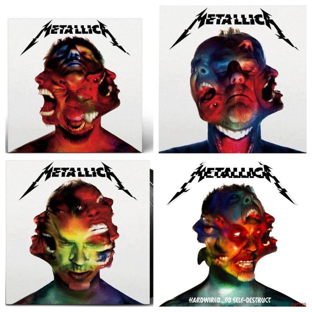 As várias versões de Hardwired... To Self-Destruct: fica a critério do freguês escolher a capa menos horrorosa