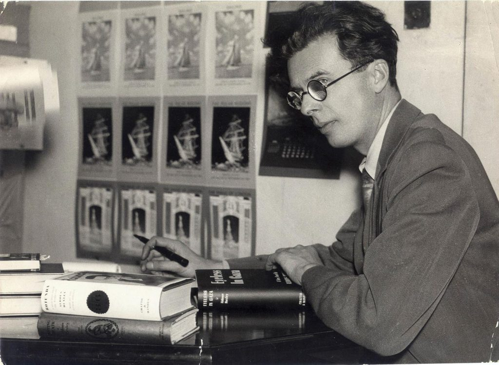 O autor Aldous Huxley: visionário