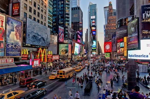 Times Square, em Nova Iorque