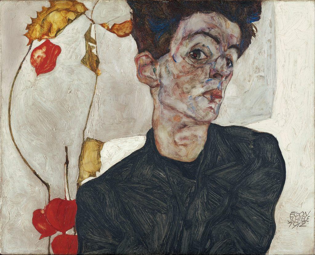 Conhecido por suas linhas retas e rostos alongados, não é difícil ver a semelhança entre as figuras de Schiele e a beleza de Verlaine.