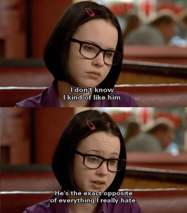 """Enid: """"Sei lá, eu meio que gosto dele. Ele é o exato oposto de tudo o que eu odeio."""""""