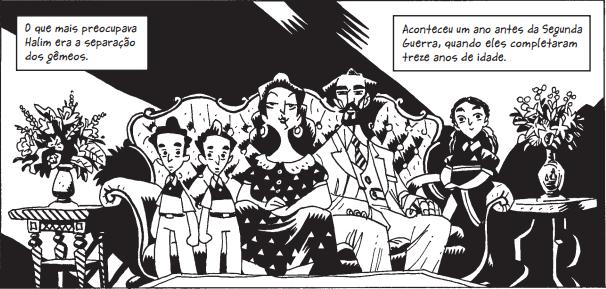Ilustração da adaptação de Dois Irmãos (Foto: Reprodução)