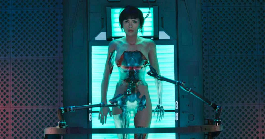 Scarlett Johansson como a ciborgue Major Kusanagi