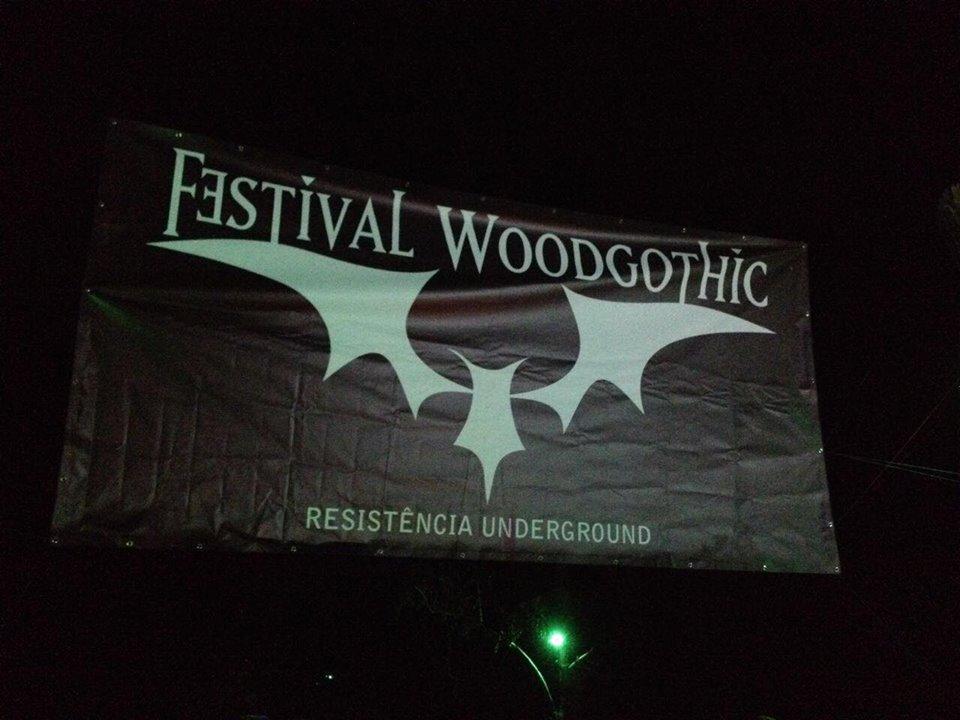 A entrada do festival, na Pousada das Magas