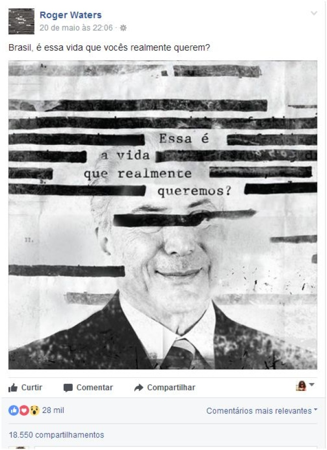 roger waters fora temer facebook