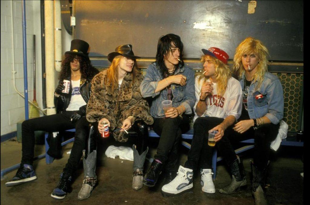 Guns N Roses formação clássica axl slash duff adler izzy