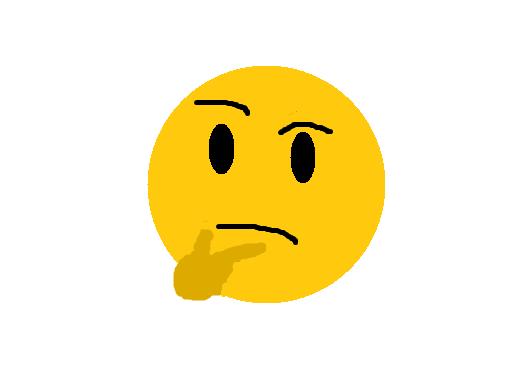 """""""emoji pensando"""", uma pintura de Matheus """"Copa"""" e retrato da incredulidade na Internet em 2017."""