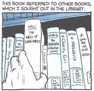 ALém dos clássicos, Fun Home é rico também em literatura e referências gays.