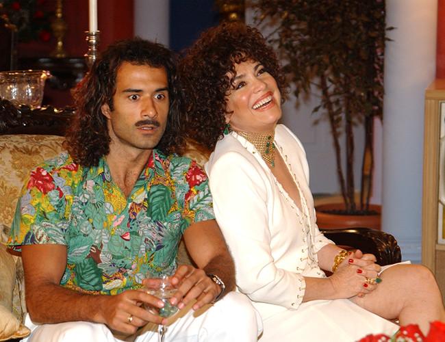 À esquerda o ator Marcos Pasquim e, à direita, a atriz Regina Duarte