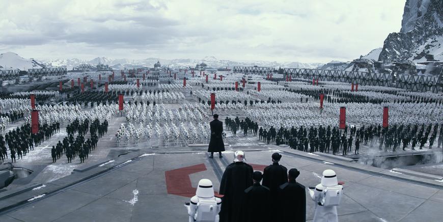 Imagem do filme Star Wars VII: O Despertar da Força.