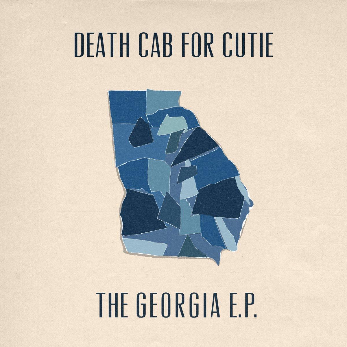 Capa de The Georgia EP. É uma capa bege claro, com o mapa do estado da Georgia, nos Estados Unidos, destacado em azul. Ao topo, em letras pretas, vemos escrito: Death Cab for Cutie, e abaixo The Georgia EP.