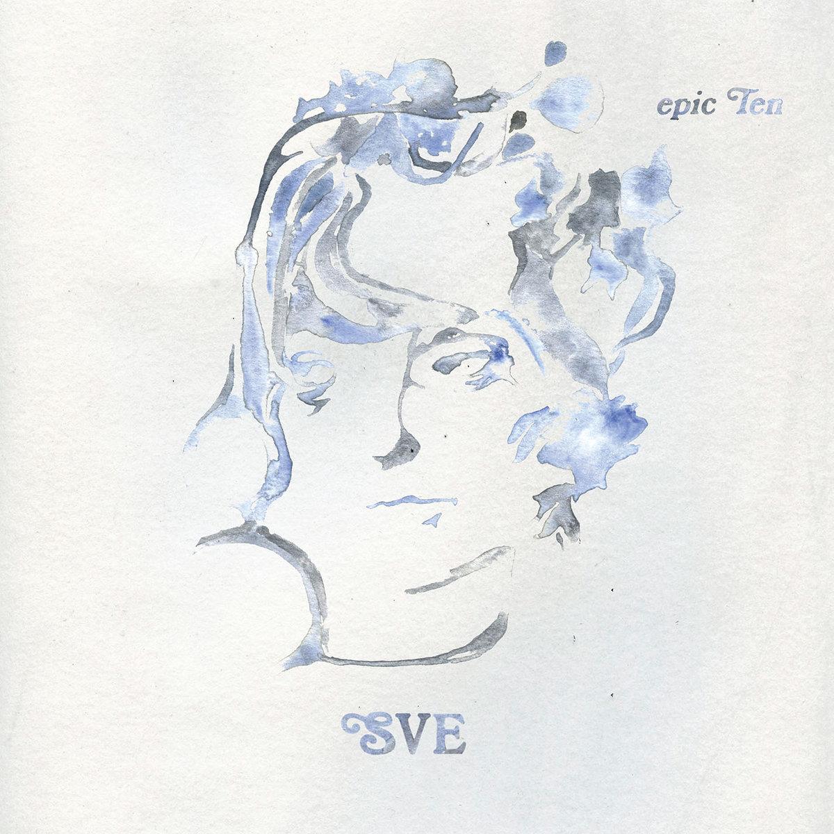 Capa do álbum Epic Ten. Nele consta um fundo branco texturizado, onde está no centro o desenho de um rosto de uma mulher, em tons de azul claro e cinza, que estão mesclados. Em baixo estão as iniciais da cantora, SVE, também em tons de azul e cinza.