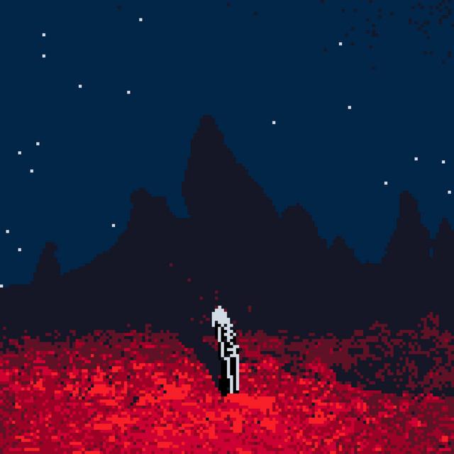 Capa do single Kyoto (Glitch Gum Remix). Na animação, que faz alusão a capa do álbum Punisher de Phoebe Bridgers, há uma representação em formato 8-bit de Bridgers, ao centro, com roupa de esqueleto em cor branca e preta. O chão é vermelho e roxo, e ao fundo existem algumas montanhas em azul. O céu, noturno, contém alguns pontos brancos que representam estrelas.